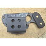 Bowie, Black Textured Handle, Black Kydex Sheath