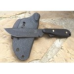 Wolf, Black Plain Edge, Drop Point, Black Textured G10