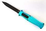 AKC EVO OTF Teal Handle Black Blade